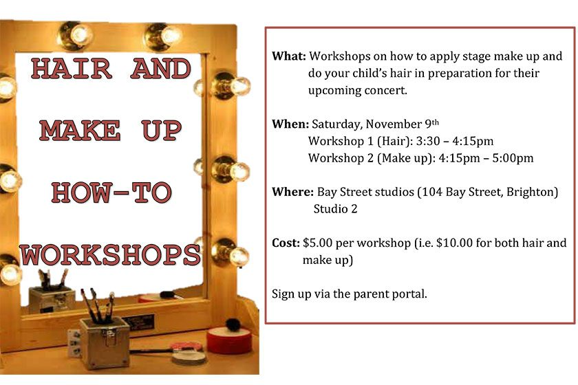 Hair and Make-Up How To Workshops