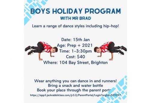 Holiday Program – Boys Holiday Program