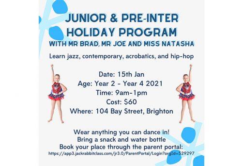 Holiday Program – Junior & Pre-Intermediate