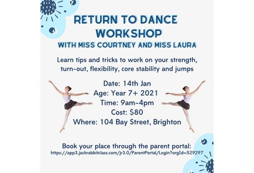 Holiday Program – Return to Dance Workshop